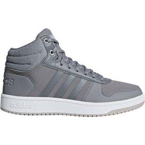 adidas HOOPS 2.0 MID šedá 6 - Dámská volnočasová obuv