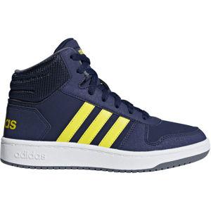 adidas HOOPS MID 2.0 K tmavě modrá 33 - Dětská volnočasová obuv