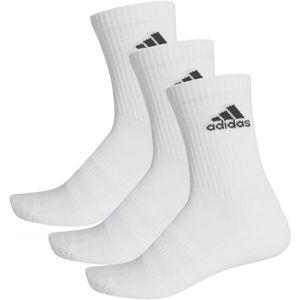 adidas CUSH CRW 3PP bílá 43 - 46 - Set ponožek