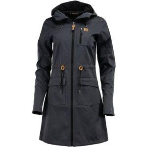 ALPINE PRO GALLERIA 2 tmavě šedá XS - Dámský softshellový kabát