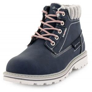 ALPINE PRO GENTIANO šedá 32 - Dětská zimní obuv