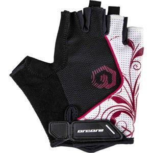 Arcore JADE bílá S - Krátkoprsté cyklistické rukavice