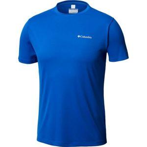 Columbia ZERO RULES SS SHRT M modrá M - Pánské sportovní tričko
