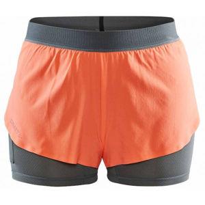 Craft VENT 2v1 W oranžová XS - Dámskéběžecké šortky