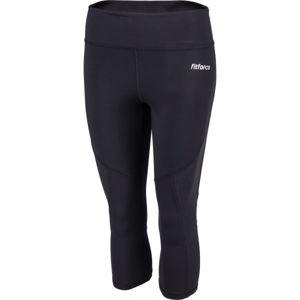 Fitforce SLOANE černá L - Dámské 3/4 fitness kalhoty