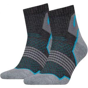 Head HIKING QUARTER 2P šedá 35 - 38 - Trekové ponožky