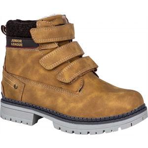 Junior League GRENA hnědá 31 - Dětská zimní obuv