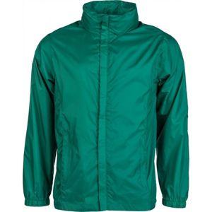 Kensis WINDY zelená M - Pánská šusťáková bunda