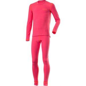 Klimatex ROKI růžová 158 - Set dětského funkčního prádla