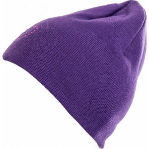 Lewro VIOLET fialová 8-11 - Dívčí pletená čepice