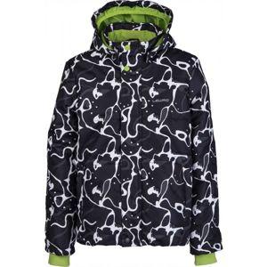 Lewro LAMAR černá 128-134 - Dětská zimní bunda