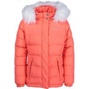 Lewro NAILA oranžová 140-146 - Dívčí prošívaná bunda