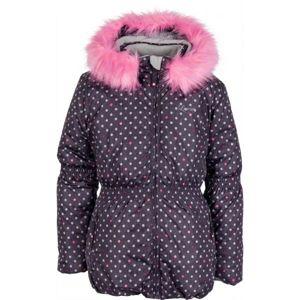 Lewro PAOLA hnědá 116-122 - Dětská zimní bunda