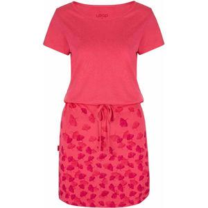 Loap ASCALA růžová S - Dámské šaty
