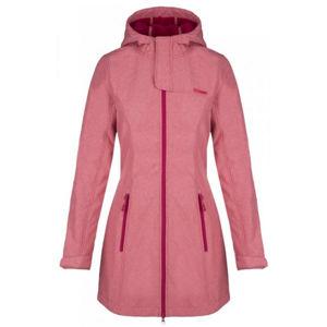Loap LINZI růžová L - Dámský sofsthellový kabát