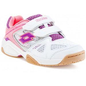 Lotto JUMPER VI CL S bílá 35 - Dětská sálová obuv