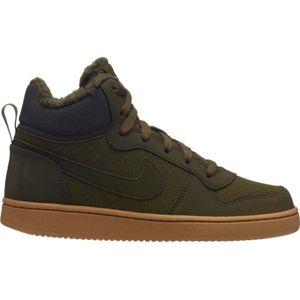 Nike COURT BOROUGH MID WINTER zelená 6.5Y - Dětské kotníkové boty