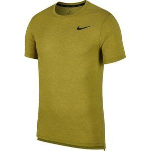 Nike NP BRT TOP SS HPR tmavě zelená L - Pánské tréninkové triko