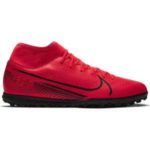 Nike MERCURIAL SUPERFLY 7 CLUB TF červená 11.5 - Pánské turfy