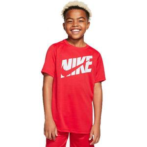 Nike HBR + PERF TOP SS B  XL - Chlapecké tréninkové tričko