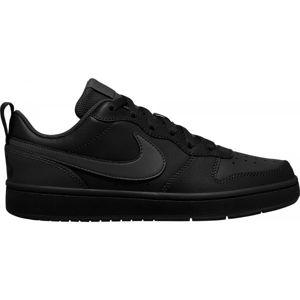 Nike COURT BOROUGH LOW 2 GS černá 4.5 - Dětská volnočasová obuv