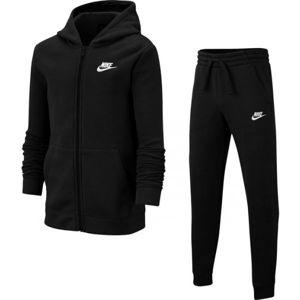 Nike NSW TRK SUIT CORE BF B černá XL - Chlapecká tepláková souprava