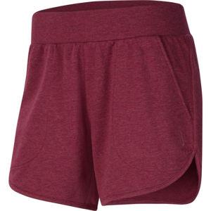 Nike YOGA SHORT W vínová XS - Dámské šortky