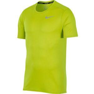 Nike DRI FIT BREATHE RUN TOP SS zelená 2xl - Pánské běžecké tričko