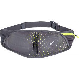 Nike DOUBLE POCKET FLASK BELT 20OZ tmavě šedá NS - Běžecká ledvinka