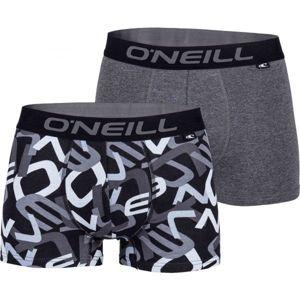 O'Neill MEN BOXER ALL OVER LETTERS 2PK bílá M - Pánské boxerky
