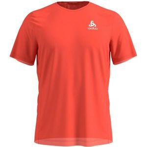 Odlo BL MEN'S T-SHIRT S/S CREW NECK ELEMENT LIGHT PRINT červená M - Pánské triko