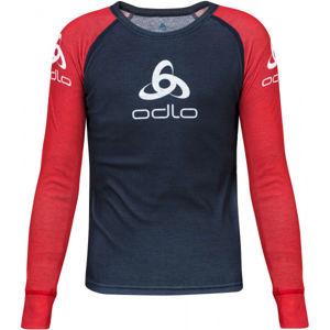 Odlo SUW KID'S TOP CREW NECK L/S ORIGINALS LIGHT červená 140 - Dětské tričko
