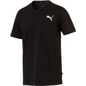 Puma ESS SMALL LOGO TEE černá S - Pánské triko