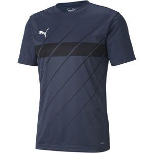 Puma FTBL PLAY GRAPHIC SHIRT tmavě modrá M - Pánské triko