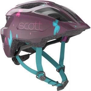 Scott SPUNTO KID fialová (46 - 52) - Dětská helma na kolo