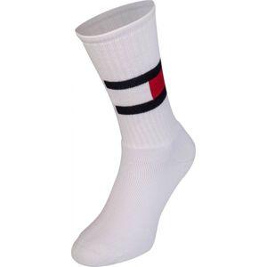 Tommy Hilfiger JEANS FLAG 1P bílá 43 - 46 - Pánské ponožky